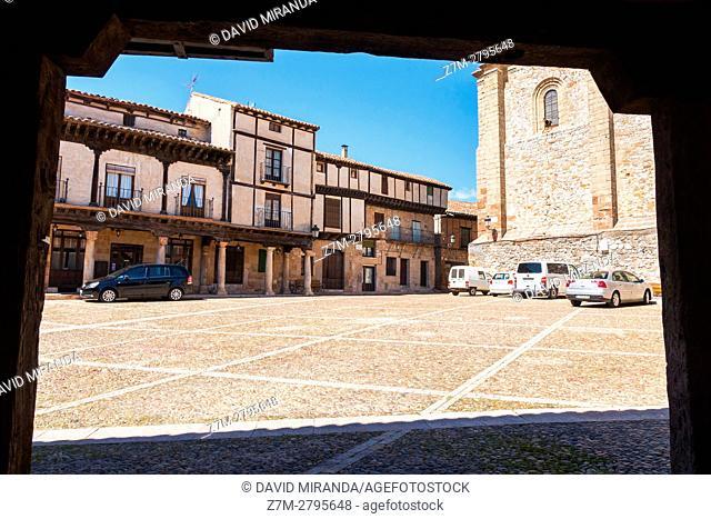 Plaza del Trigo Square, Atienza, Guadalajara province, Castile La Mancha, Spain. Historical Heritage Site