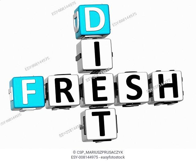 3D Fresh Diet Crossword text