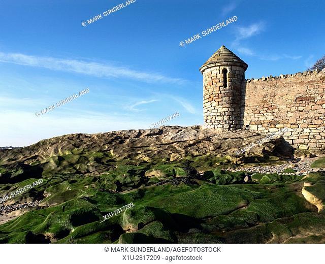 Tower on the Beach below Ravenscraig Park Kirkcaldy Fife Scotland