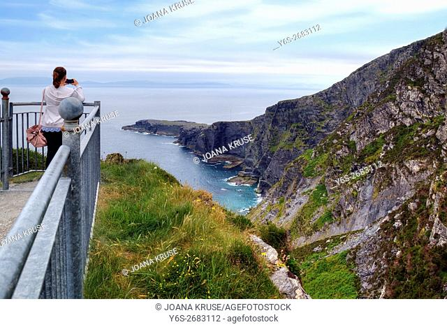 Valentia Island, Fogher Cliffs, Iveragh Peninsula, Skellig Ring, Kerry, Ireland, Europe