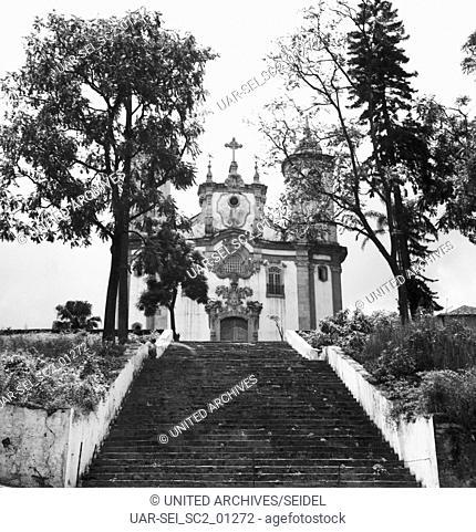 Kirche Igreja Nossa Senhora do Carmo in Ouro Preto, Brasilien 1966. Church Igreja Nossa Senhora do Carmo in Ouro Preto, Brazil 1966