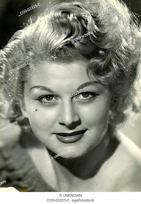 Close up of an Italian actress