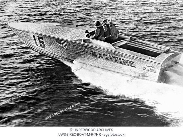 West Palm Beach, Florida June 14, 1965.The spear-nosed aluminum power boat won the 180 mile West Palm Beach to Lucaya-Freeport Gateway Marathon