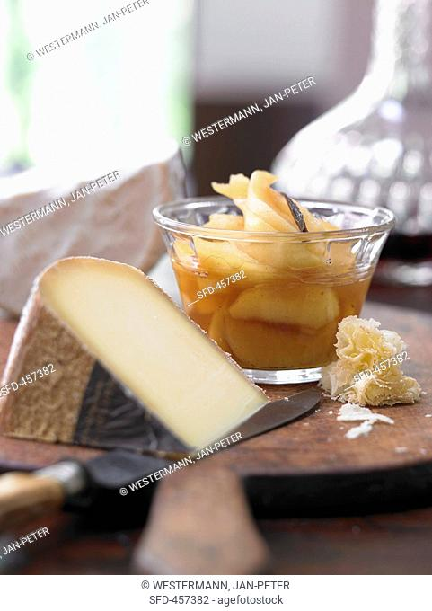 Quince compote and cheese platter