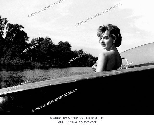 Sylva Koscina in 'I genitori in blue-jeans'. Croatian-born Italian actress Sylva Koscina acting in the film 'I genitori in blue-jeans'. 1960