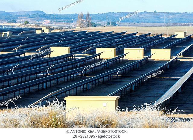 Solar power plant. Almansa. Albacete province. Spain