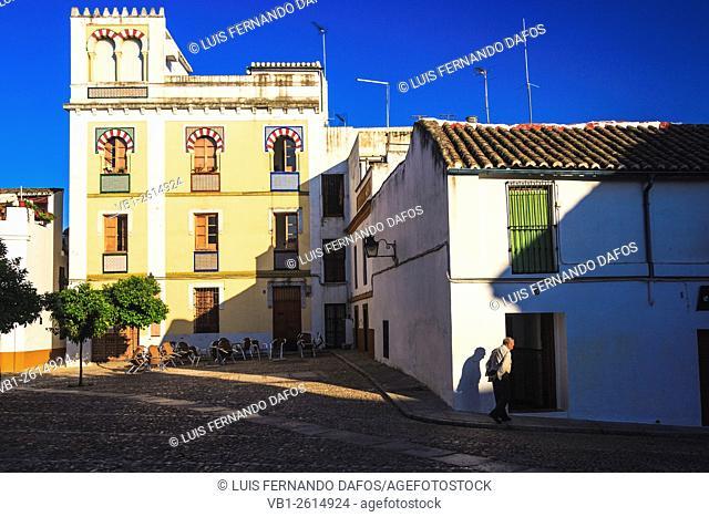Square in Juderia, Jewish quarter in old town Cordoba, Andalucia, Spain