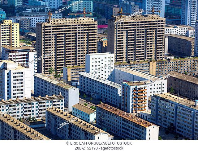 New Apartements Being Built, Pyongyang, North Korea