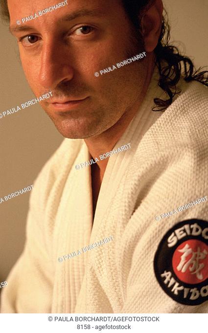 Man wearing Aikido gi