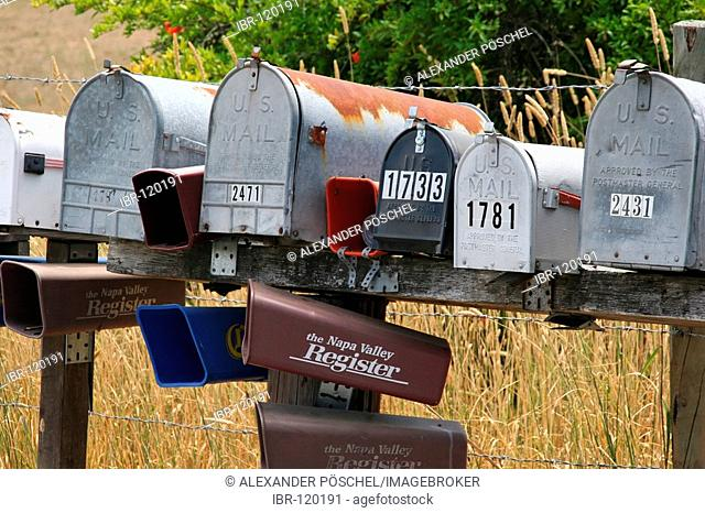 US Mail, mailboxes, USA