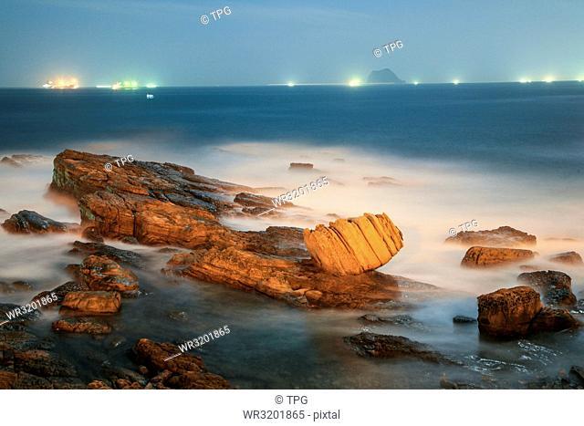 Wanli fist stone--Keelung Island--fishing fire