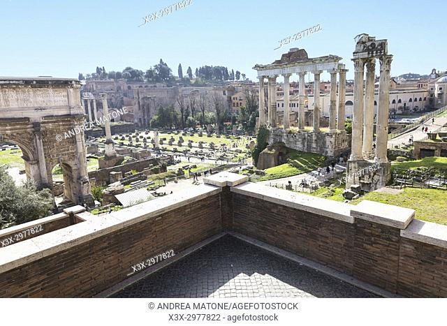 The Roman Forum. Rome, Italy