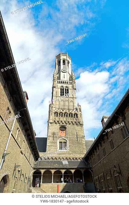 Belfry,Market Square, Bruges,Belgium