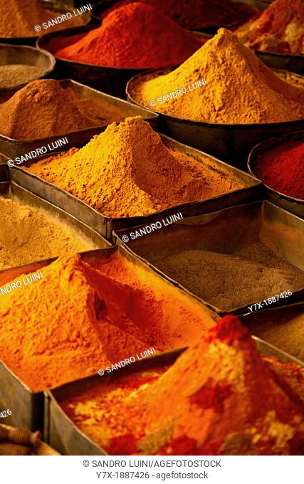 Morocco, Fes, Medina, Spices