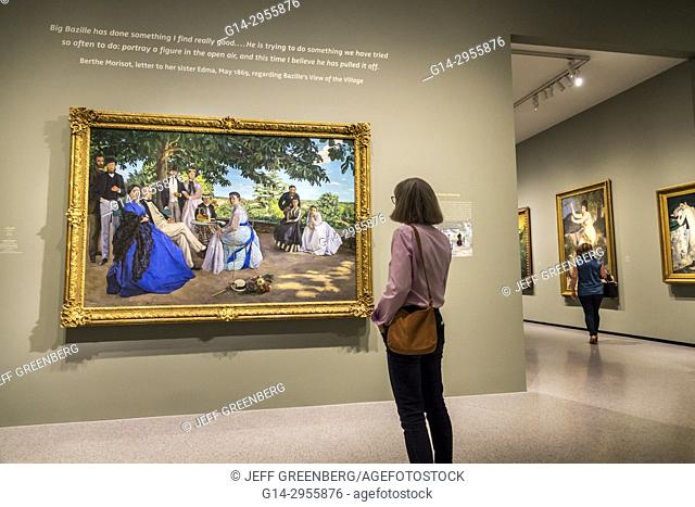 Washington DC, District of Columbia, National Gallery of Art, museum, Frederic Bazille, Impressionism, painting, Family Gathering, 1867, exhibition, woman