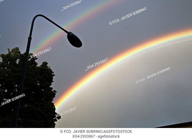 Rainbow. Stockholm. Sweden. Scandinavia