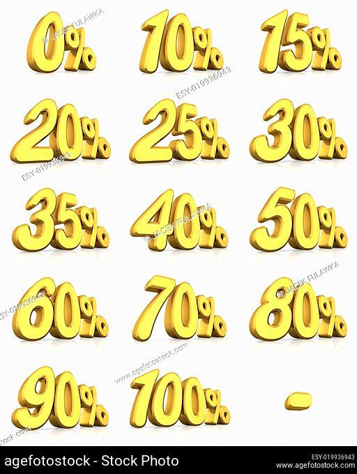Gold Percent Tags
