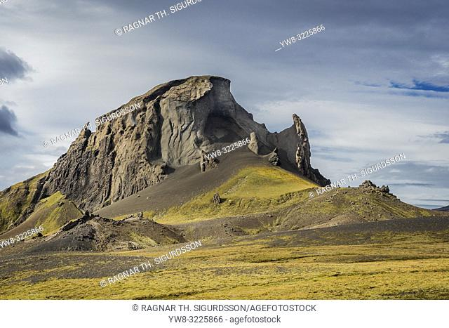 Mt. Einhyrningur, South Iceland. The name means â. œThe Unicornâ. . , from the shape of this low mountain