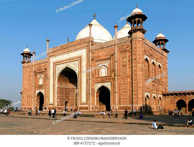 Entrance building, Taj Mahal, Agra, Uttar Pradesh, India