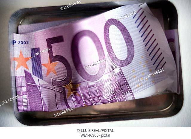 quinientos euros, billete, five hundred euros, money, money, note banc