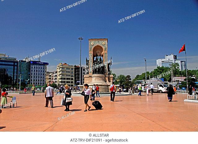 REPUBLIC MONUMENT; TAKSIM SQUARE, ISTANBUL, TURKEY; 22/05/2012