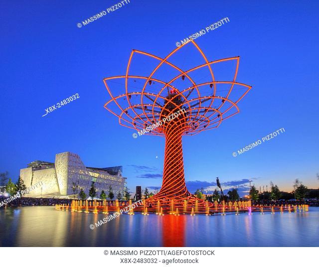 The Tree of Life at Lake Arena at Milan Expo 2015, Milan, Italy