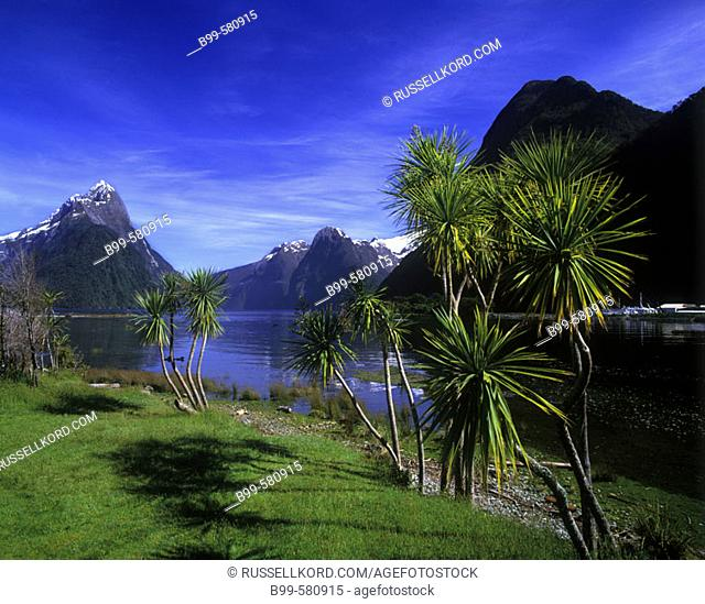 Scenic Mitre Peak, Milford Sound, Fiordland, New Zealand