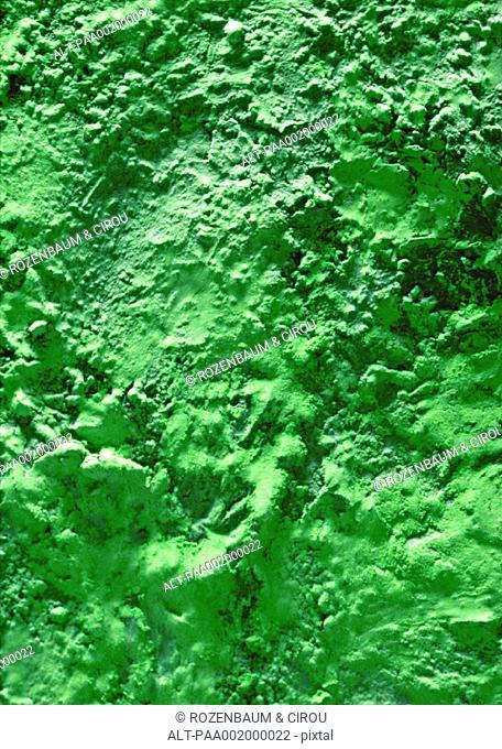 Green stucco, close-up, full frame