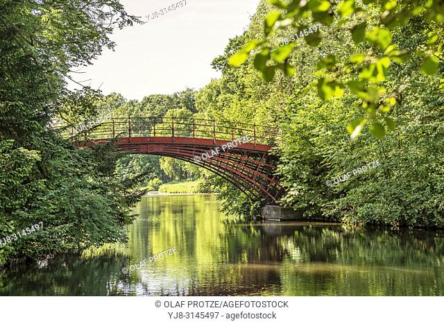 Iron Bridge at Garden of Charlottenburg Palace, Berlin, Germany