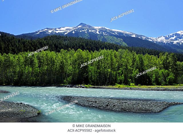 Ogilvie Creek and the Coast Mountains on the Stewart-Cassiar Highway, Stewart-Cassiar Highway, British Columbia, Canada