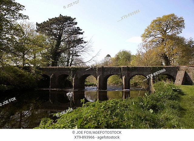 Deerpark bridge over the sixmilewater river in the grounds of antrim castle county antrim northern ireland