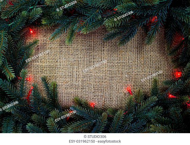 Christmas fir tree with Christmas light