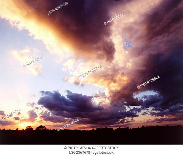 Poland. Clouds