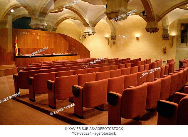 Conference Hall. Palau de la Generalitat. Barcelona. Spain