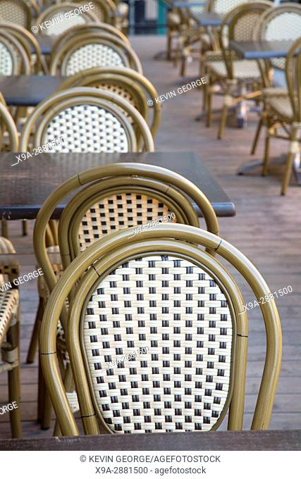 Cafe Table and Chairs, Stortorget Square, Gamla Stan - City Centre, Stockholm, Sweden