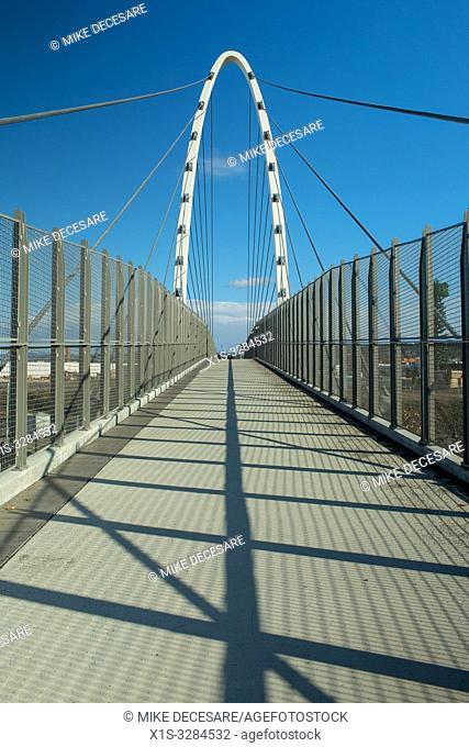 The Gateway Bridge in the University District in Spokane, Washington