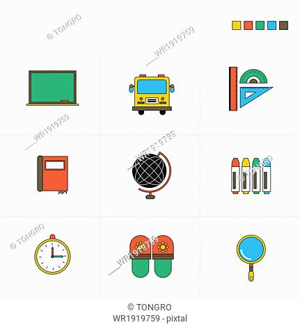 a set of items related to education