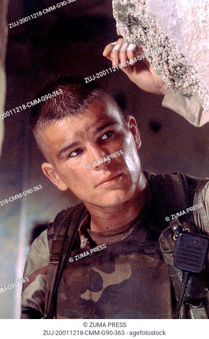 Dec 18, 2001; Hollywood, CA, USA; JOSH HARTNETT as Sgt. Matt Eversmann in the war, action, drama 'Black Hawk Down' directed by Ridley Scott