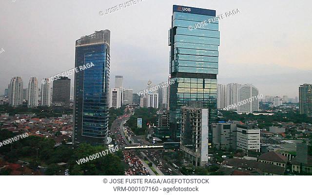 Indonesia,Jakarta City, Mohammad Husni Thamrin Avenue,Downtown Jakarta