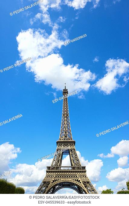 Eiffel Tower view in Paris, France