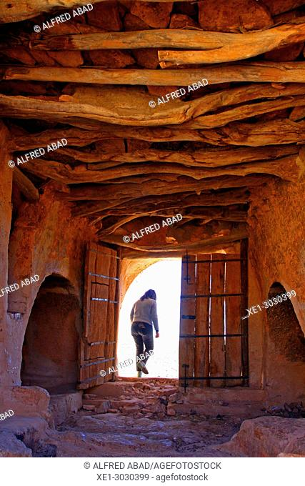 door, Ksar, traditional Berber architecture, Meztouria, Tunisia