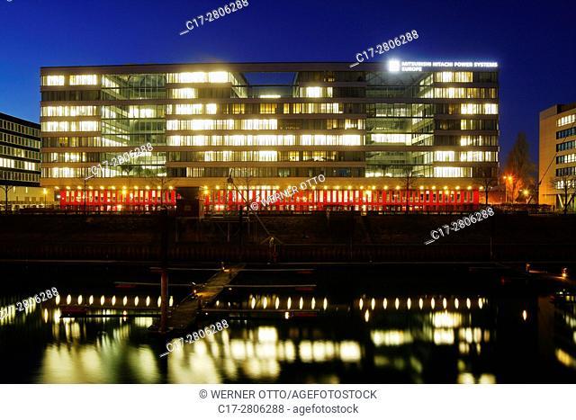 Germany, Duisburg, Rhine, Rhineland, Lower Rhine, Ruhr area, North Rhine-Westphalia, NRW, city port, service park Duisburg Innenhafen, office building