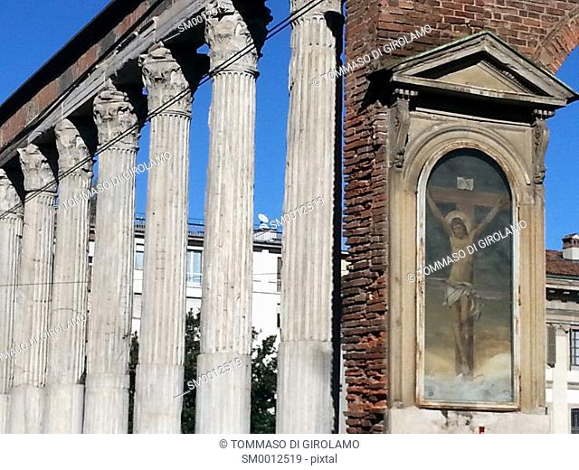 Italy, Milan, Basilica di San Lorenzo Maggiore, Roman Column