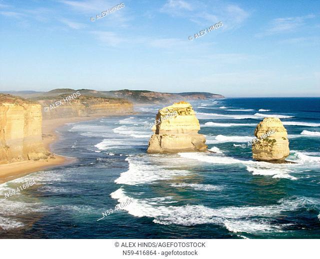 View of the Great Ocean Road. Victoria, Australia