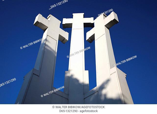 Lithuania, Vilnius, Three Crosses Hill