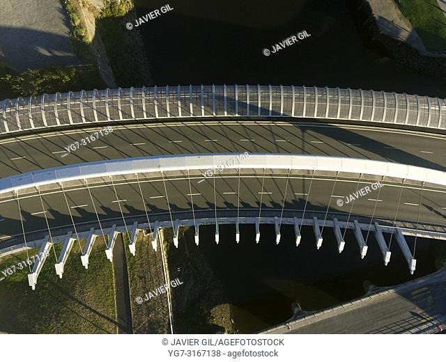 Kaiku bridge, Barakaldo, Bizkaia, Basque Country, Spain