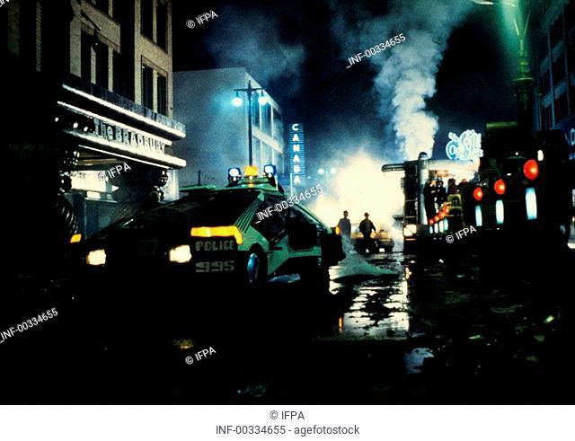 Film 'Der Blade Runner' USA 1982, Regie: Ridley Scott, Filmszene   science fiction, los angeles 2019, zukunftsvision, zukunft, thriller, action, fahrzeug, auto