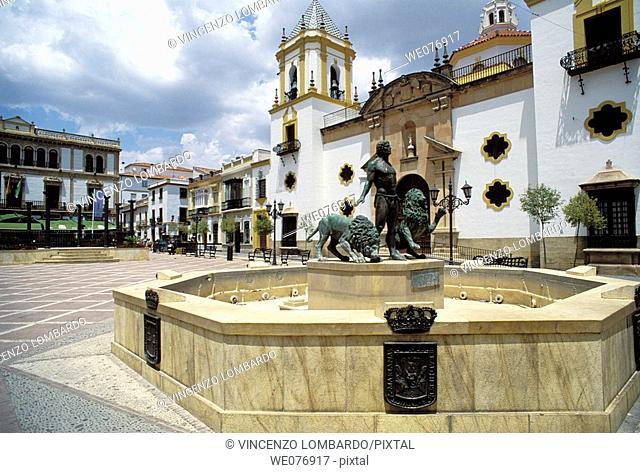 Spain, Andalucia ,Ronda, Church in Plaza del Socorro