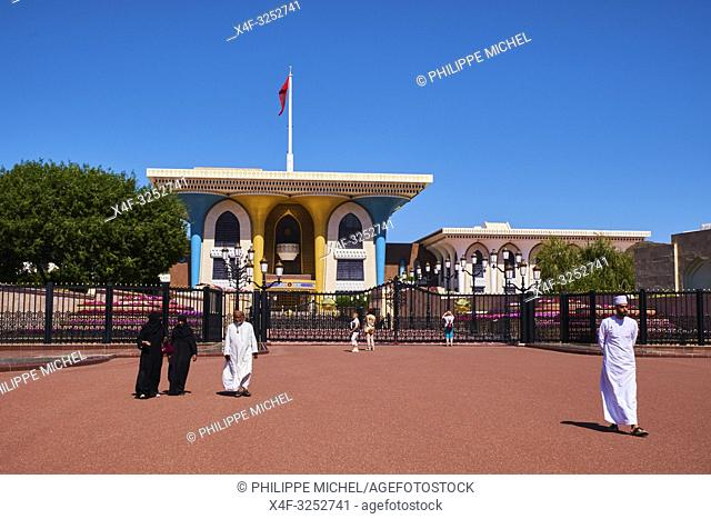 Sultanat of Oman, Muscat, Al Alam Palace of Sultan Qaboos