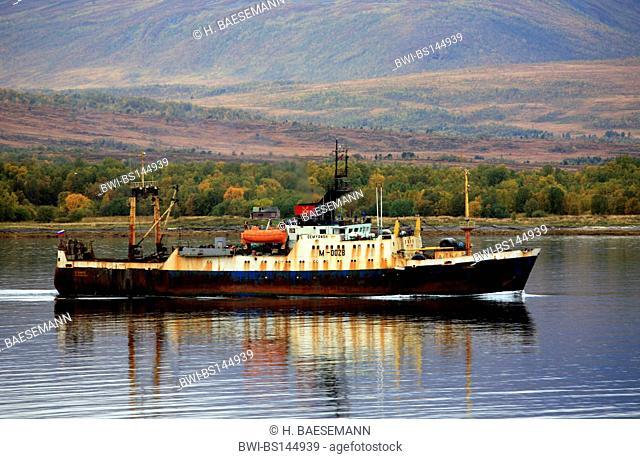 rusty trawler, Norway, Troms, Kvaloya